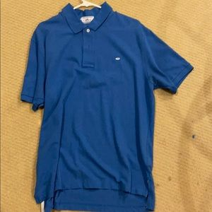 Southern Tide Blue Collared Shirt Polo Size Large